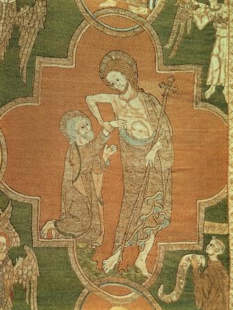 Scene from the Life of Christ, Detail from the Syon Cope, 1300-20