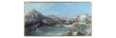 The Beginning of Sea Swimming in the Old Port of Biarritz, 1858