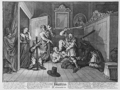Hudibras Catechiz'D, Plate Iv, from 'Hudibras' by Samuel Butler, 1726