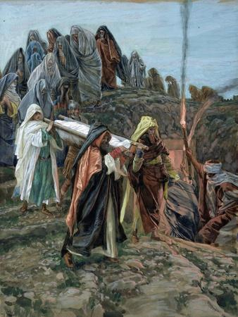 Jesus Carried to the Tomb, Illustration for 'The Life of Christ', C.1886-94