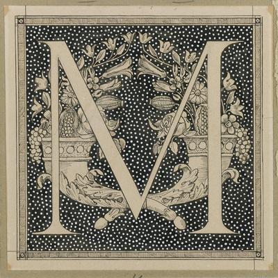 Capital Letter M, Illustration from 'The Life of Our Lord Jesus Christ'
