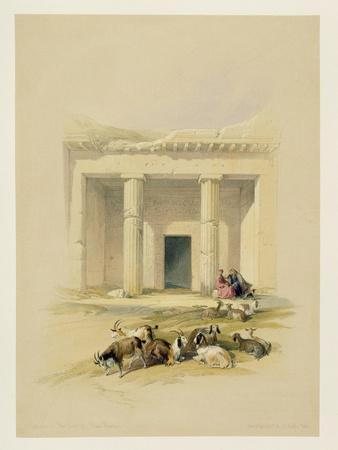 """Entrance to the Caves of Bani Hasan, from """"Egypt and Nubia"""", Vol.1"""