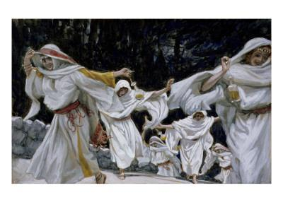 The Wise Virgins, Illustration for 'The Life of Christ', C.1886-94