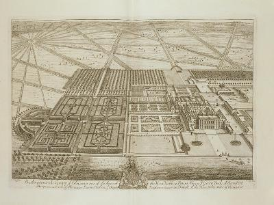 Badminton House in the County of Gloucester, Engraved by Johannes Kip