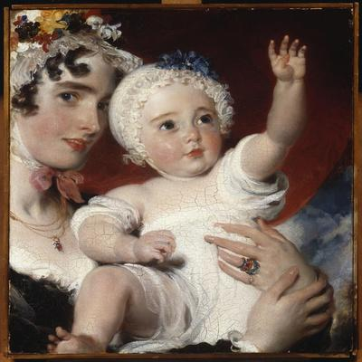 Priscilla, Lady Burghesh, Holding Her Son, the Hon. George Fane, 1820