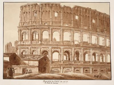 Restoration of the Colosseum from the Side of St. John Lateran, 1833