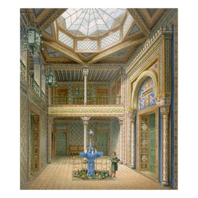 Copula Style Ceiling, Design for the Entrance Hall to Wilhelma, 1837