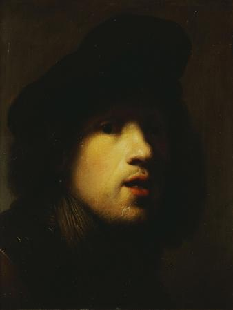Portrait of the Artist, Head and Shoulders, in a Black Beret and a Gorget