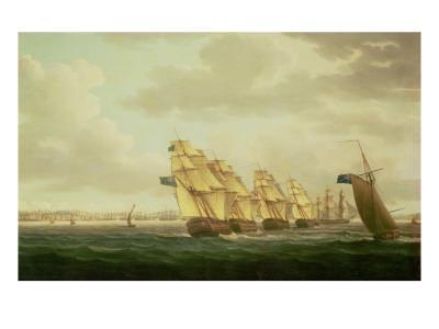 Nelson on the 'Theseus' with the Inshore Squadron Off Cadiz, July 1797,