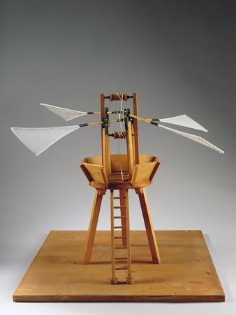 Model Reconstruction of Da Vinci's Design for a Vertical Ornithopter