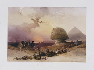 Approach of the Simoom. Desert of Gizeh, from 'Egypt and Nubia)