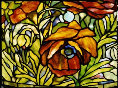 Detail of an 'Oriental Poppy' Floor Lamp, Tiffany Studios, 1902