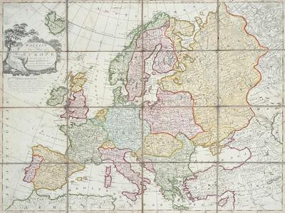 Wallis's New Map of Europe Divided into its Empires Kingdoms &C, 1789