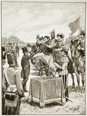 Queen Victoria at the First Presentation Fo the Victoria Cross