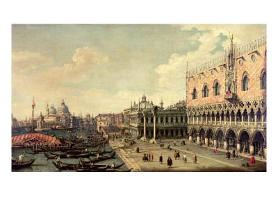 View of the Molo Looking Towards the Entrance of the Grand Canal, Venice