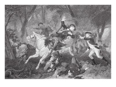 Death of Patrick Ferguson at the Battle of King's Mountain, 7 October 1780