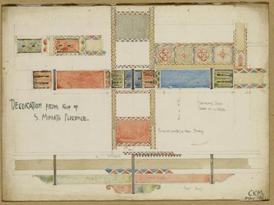 Studies of Decorative Ceiling Panels, San Miniato, Florence, 1891