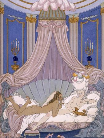 Scene from 'Les Liaisons Dangereuses' by Pierre Chodlerlos De Laclos