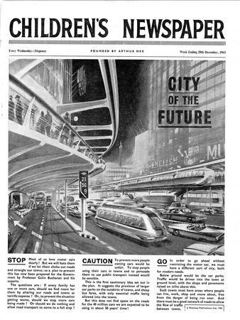 City of the Future, Front Page of 'The Children's Newspaper, February 1963
