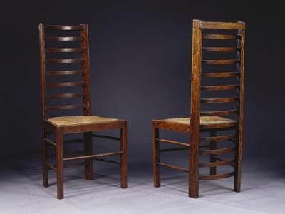 Two Ladder Back Chairs, for Miss Cranston's Tea Rooms, Glasgow, C.1903