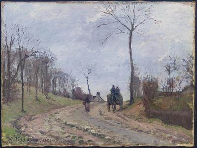 Carriage on a Country Road, Winter, Outskirts of Louveciennes, 1872