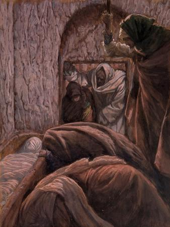 Jesus in the Tomb, Illustration for 'The Life of Christ', C.1884-96