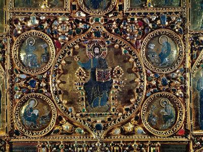 The Pala D'Oro, Detail of Christ in Majesty with the Evangelists