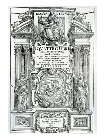 Frontispiece to 'Quattro Libri Dell'Architettura' by Andrea Palladio, 1570