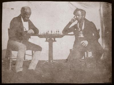 Nicolaas Henneman Contemplates His Move in a Game of Chess, September 1841