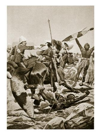 The 17th Lancers Pursuing the Zulus after Ulundi, July 4th 1879