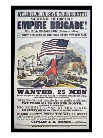 Federal Recruiting Poster for the Second Regiment, Empire Brigade