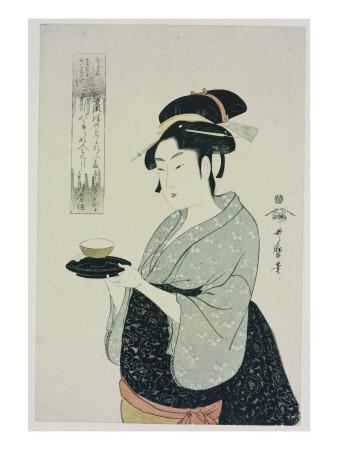A Half Length Portrait of Naniwaya Okita, Depicting the Famous Teahouse