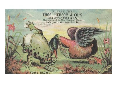 A Fowl Blow', Advertisement for Thos. Hersom and Co's Best Soap, C.1880