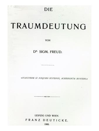 Titlepage to 'Die Traumdeutung' by Sigmund Freud, Published in 1899