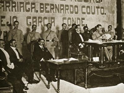 Venustiano Carranza at the Queretaro Convention, December 1917