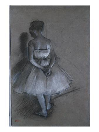 Dancer Standing with Hands Crossed Behind Her Back, 1874