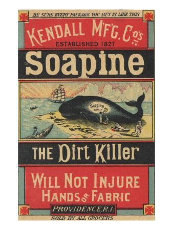 Poster Advertising Kendall Mfg. Co's 'soapine', C.1890