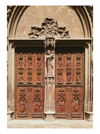 Main Portal of the Saint-Sauveur Cathedral, Built in 1504