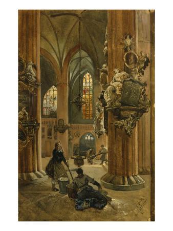 Interior of the Church of St. Nicholas, Berlin, 1886