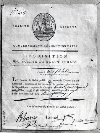 Requisition of the Committee of Public Safety, 1789-99