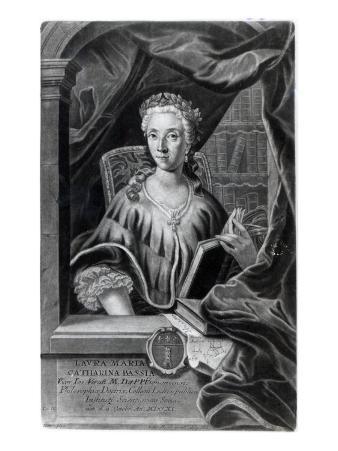 Laura Maria Caterina Bassi, Engraved by Johann Jakob Haid
