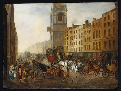 The London-To-Brighton Coach at Cheapside, 18th July 1831