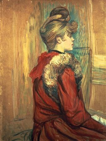 Girl with a Fur Stole, Mademoiselle Jeanne Fontaine, 1891