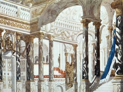 Scenery Design for the Baptism, from Sleeping Beauty, 1921