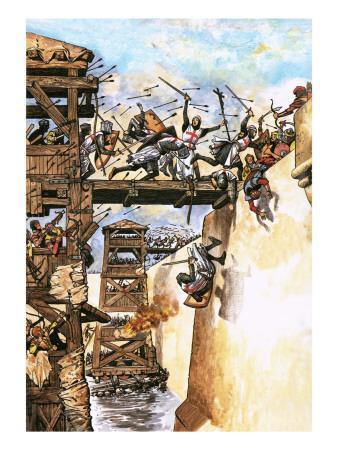 English Soldiers Attacking a City During the Crusades