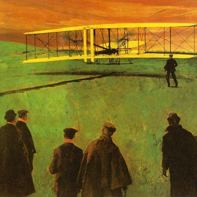 The First Flight by the Wright Brothers at Kitty Hawk