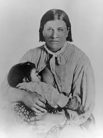 Cynthia Ann Parker With Her Daughter Prari Flower C 1861