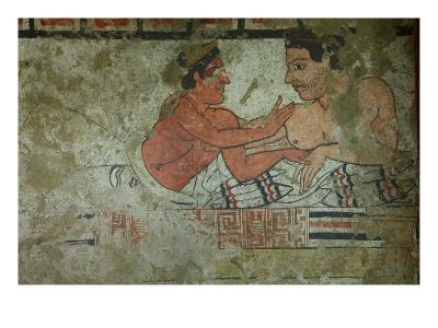 Detail of a Mural from the Tomb of the Infernal Quadriga