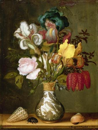 Irises, Roses and Other Flowers in a Porcelain Vase, 1622