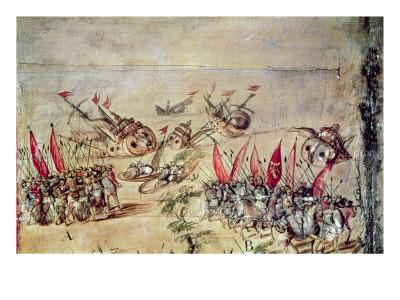 Cortes Sinking His Fleet Off the Coast of Mexico, 1518